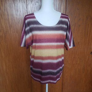Maurices Large Striped Short Sleeve Shirt